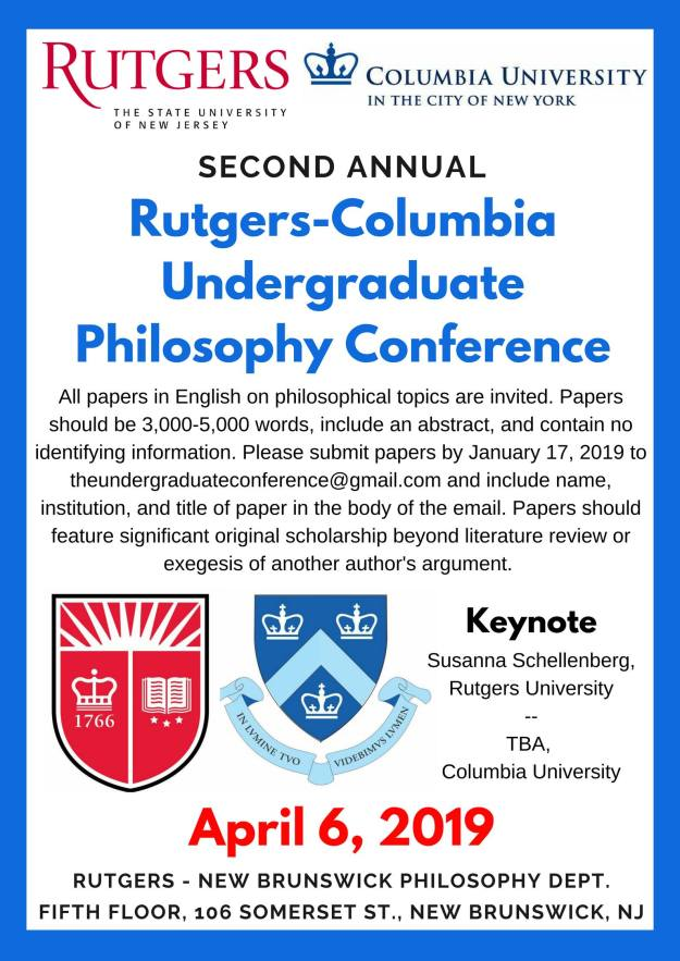 Rutgers-Columbia Undergraduate Philosophy Conference